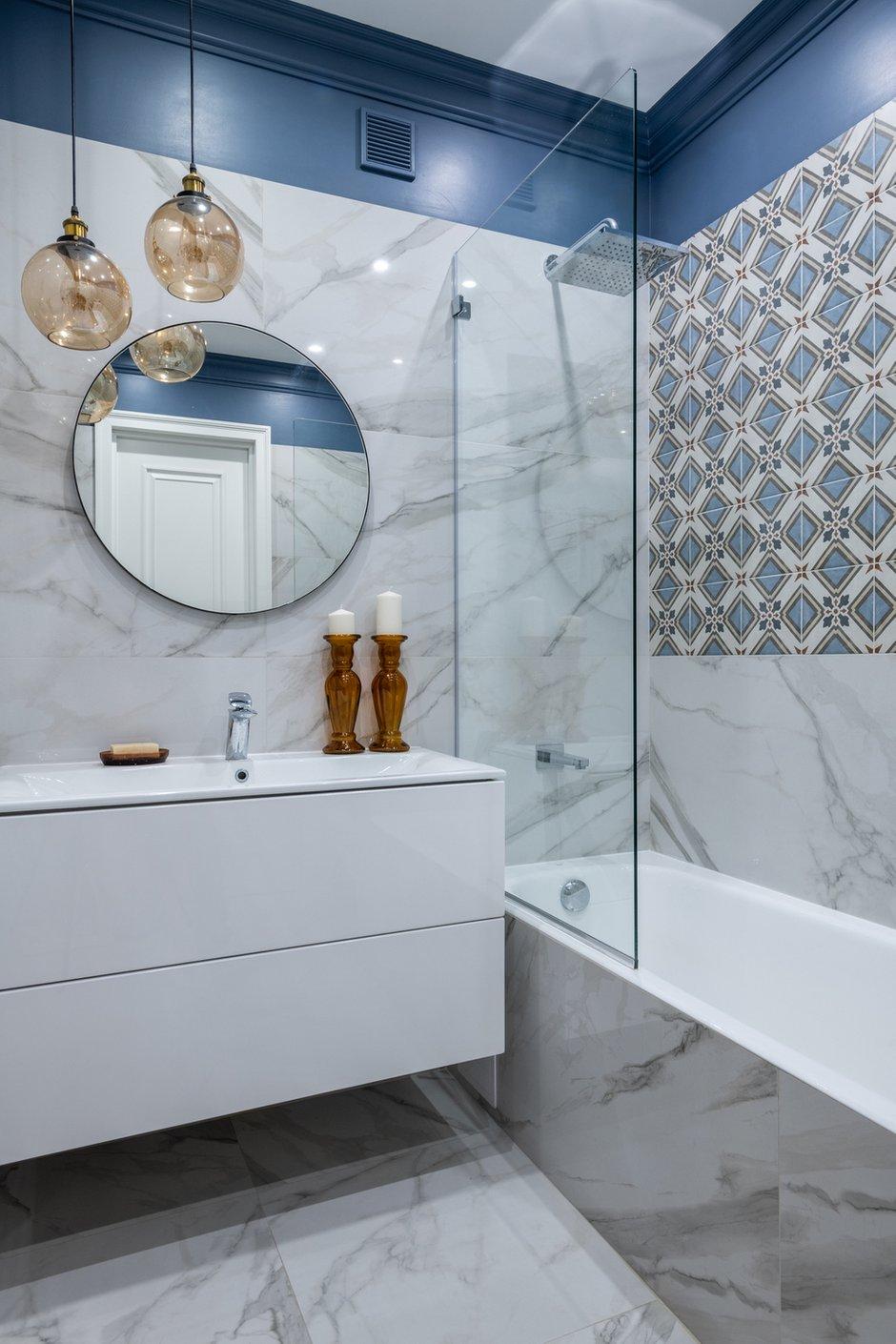 Фотография: Ванная в стиле Современный, Квартира, Проект недели, Москва, 3 комнаты, 60-90 метров, Анна Моджаро – фото на INMYROOM