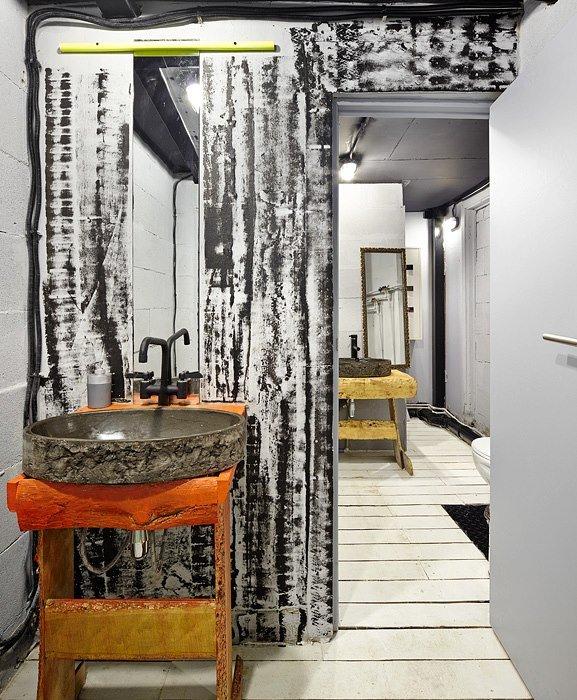 Фотография: Ванная в стиле Лофт, Декор интерьера, Освещение, Дизайн интерьера, Цвет в интерьере, Ольга Евдокимова – фото на INMYROOM