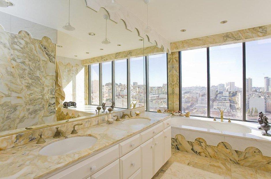 Фотография: Ванная в стиле Современный, Квартира, Терраса, Дома и квартиры, Камин, Пентхаус, Ар-деко – фото на INMYROOM