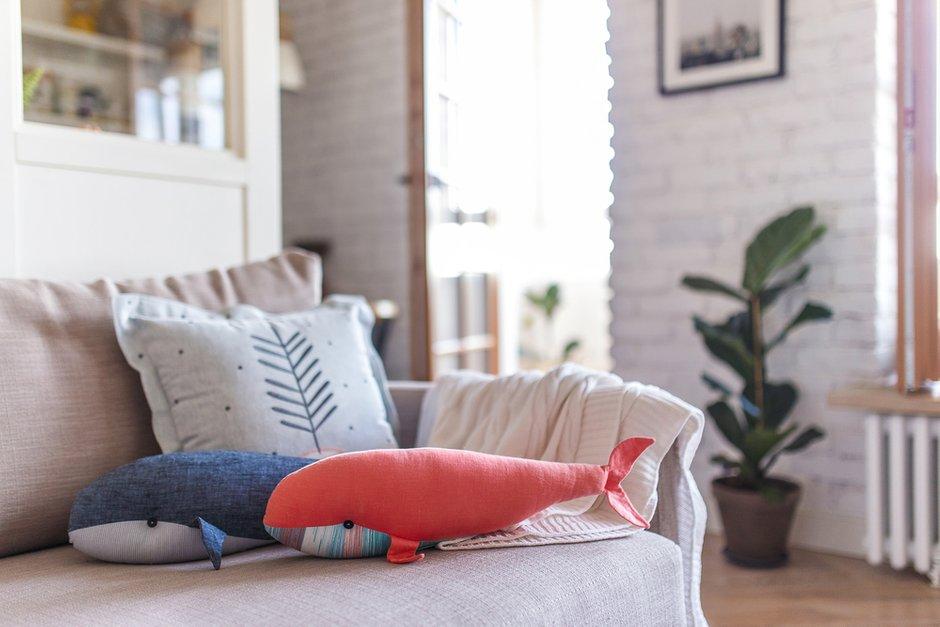 Фотография: Гостиная в стиле Скандинавский, Квартира, Белый, Проект недели, Евгения Лыкасова – фото на INMYROOM