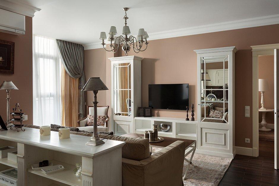 Фотография: Гостиная в стиле Прованс и Кантри, Классический, Эклектика, Квартира, Дома и квартиры – фото на INMYROOM