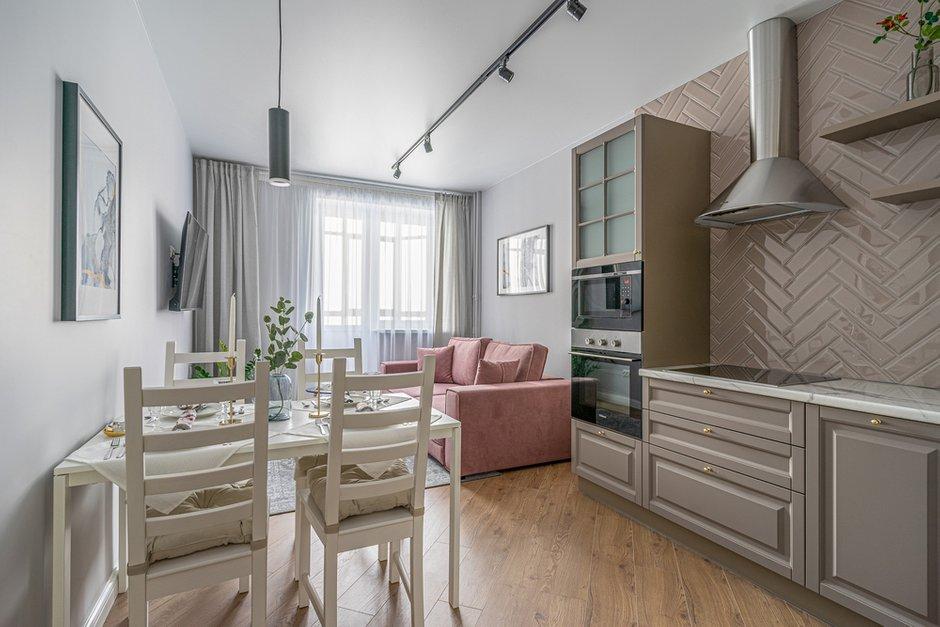 Фотография: Кухня и столовая в стиле Современный, Квартира, Проект недели, Москва, 3 комнаты, 60-90 метров, Марьям Разуваева – фото на INMYROOM