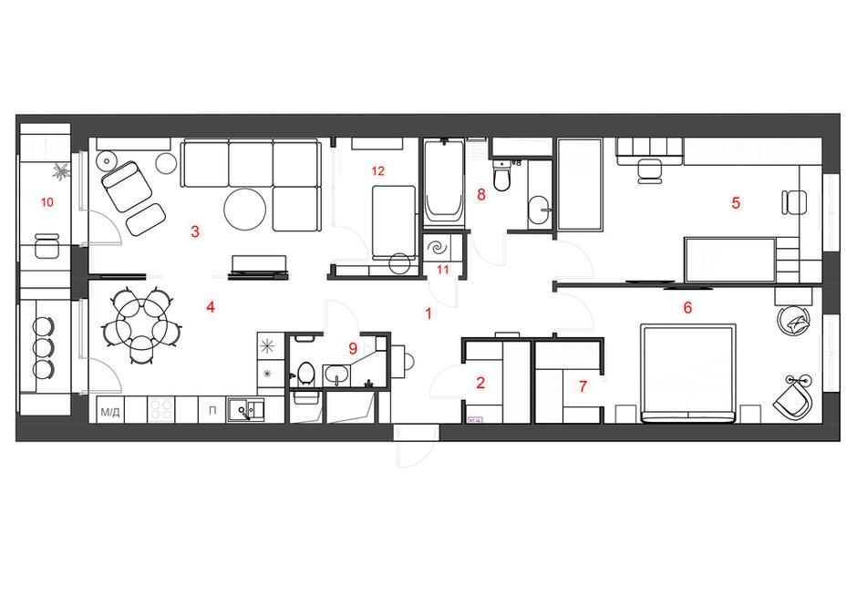 Фотография: Планировки в стиле , Современный, Квартира, Проект недели, Москва, 4 и больше, Более 90 метров, Little Space – фото на INMYROOM