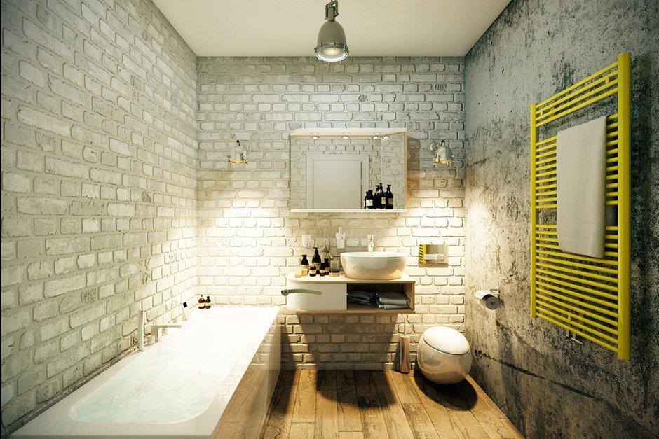 Фотография: Ванная в стиле Лофт, Квартира, Дома и квартиры, Проект недели – фото на INMYROOM