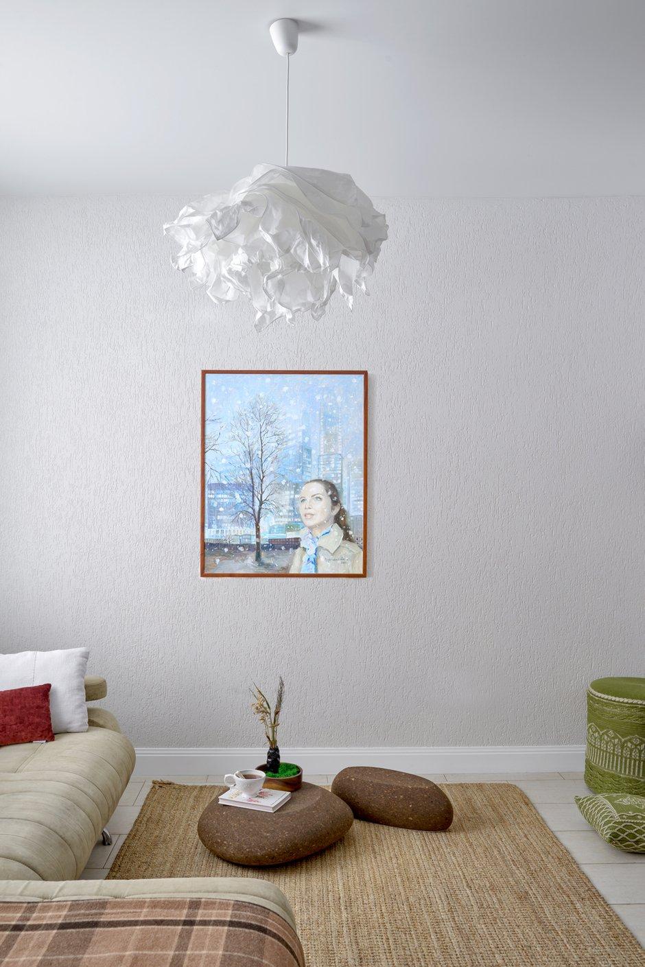 Фотография: Гостиная в стиле Эко, Дом и дача, Химки, Таунхаус, Оксана Цымбалова, 4 и больше, Более 90 метров – фото на INMYROOM