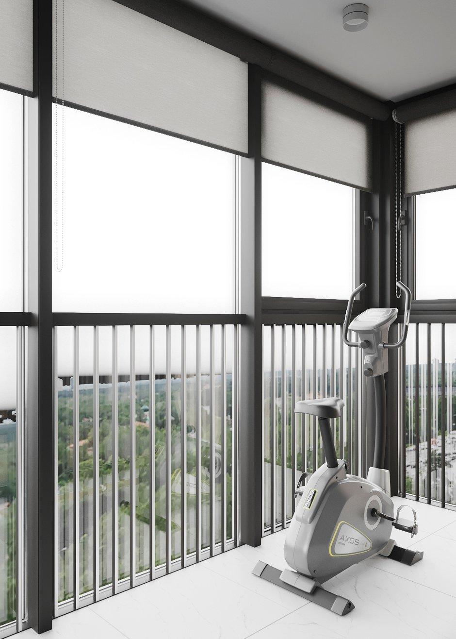 Фотография: Балкон в стиле Современный, Квартира, Проект недели, Санкт-Петербург, 2 комнаты, Более 90 метров, Ольга Мудрякова – фото на INMYROOM