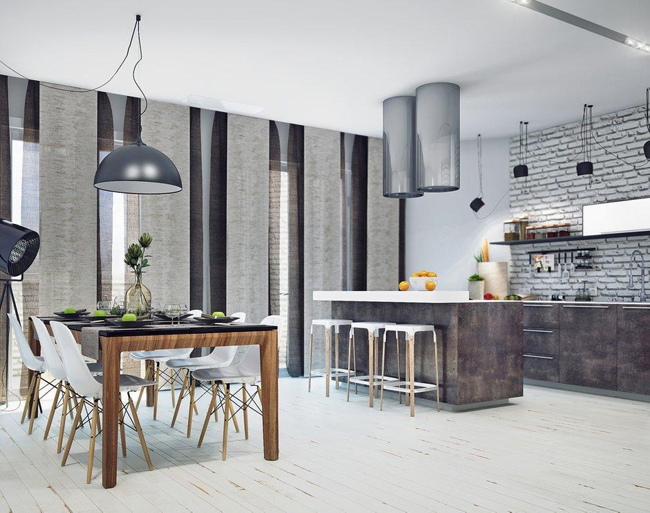 Фотография: Кухня и столовая в стиле Лофт, Современный, Декор интерьера, Квартира, Декор, Мебель и свет, Проект недели – фото на INMYROOM