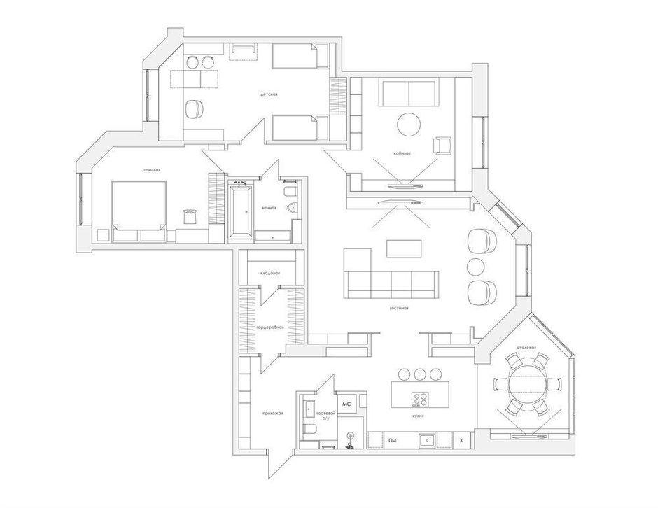 Фотография: Планировки в стиле , Современный, Квартира, Проект недели, Москва, Монолитный дом, 4 и больше, Более 90 метров, Zeworkroomstudio – фото на INMYROOM
