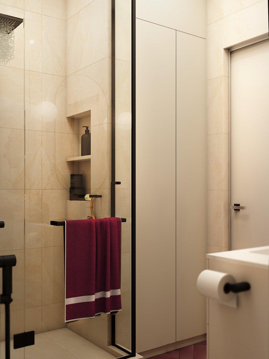 Фотография: Ванная в стиле Современный, Квартира, Проект недели, Москва, 1 комната, до 40 метров, Ольга Шакирова – фото на INMYROOM