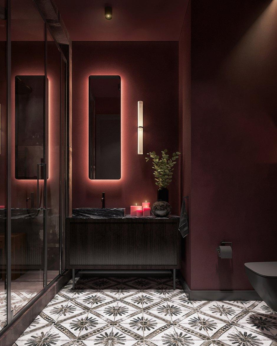 Фотография: Ванная в стиле Лофт, Эклектика, Квартира, Проект недели, Челябинск, 1 комната, до 40 метров, 40-60 метров, Tenso Interiors – фото на INMYROOM