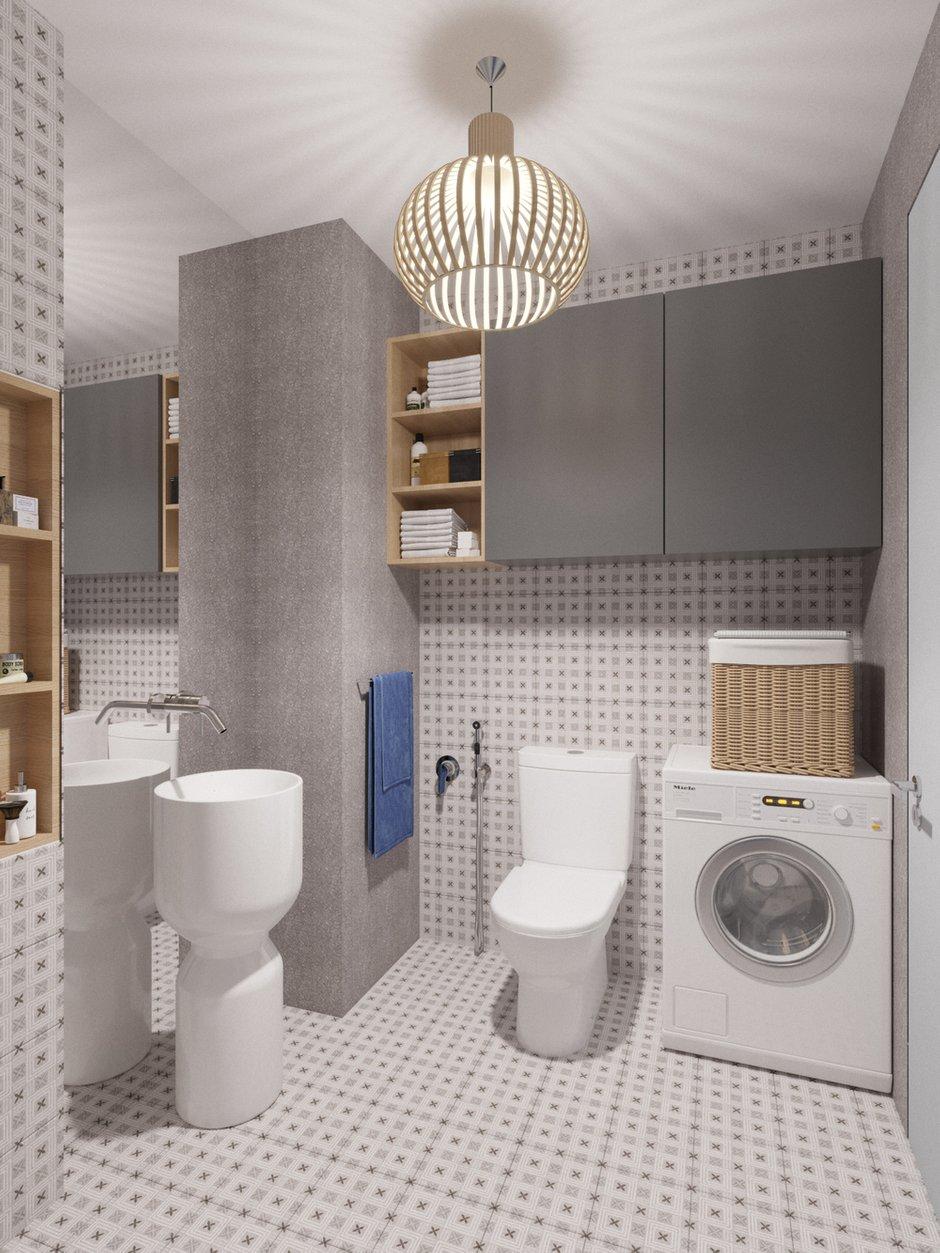 Фотография: Ванная в стиле Современный, Малогабаритная квартира, квартира холостяка, малогабаритка, 1 комната, до 40 метров, Юлия Тельнова – фото на INMYROOM