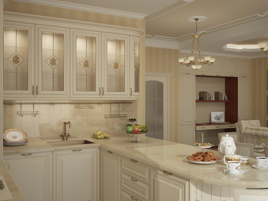 Фотография: Кухня и столовая в стиле Классический, Квартира, Дома и квартиры, Москва – фото на INMYROOM