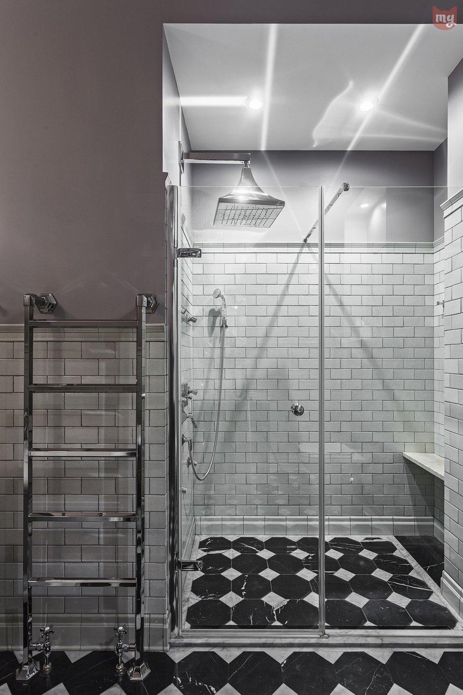 Фотография: Ванная в стиле Классический, Эклектика, Квартира, Проект недели, Москва, Ольга Абрамова, Монолитный дом, 3 комнаты, Более 90 метров – фото на INMYROOM