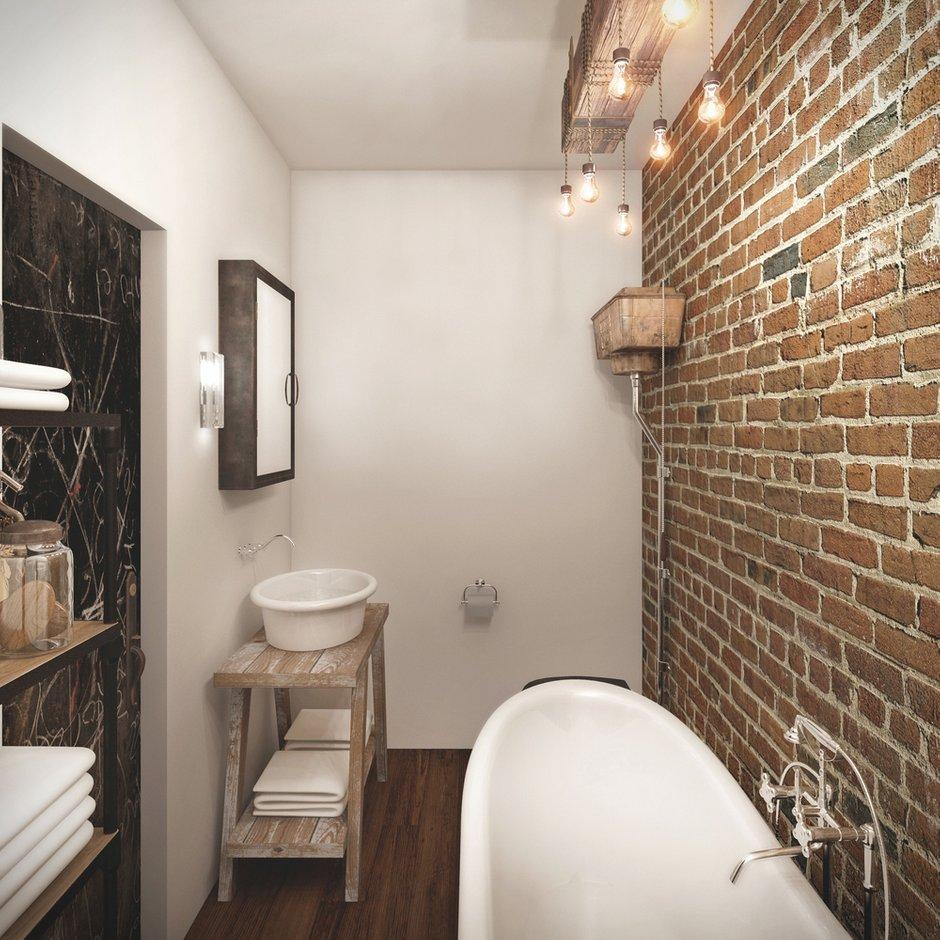 Фотография: Ванная в стиле Лофт, Квартира, Дома и квартиры, Проект недели, Перепланировка, Переделка, КТ – фото на INMYROOM