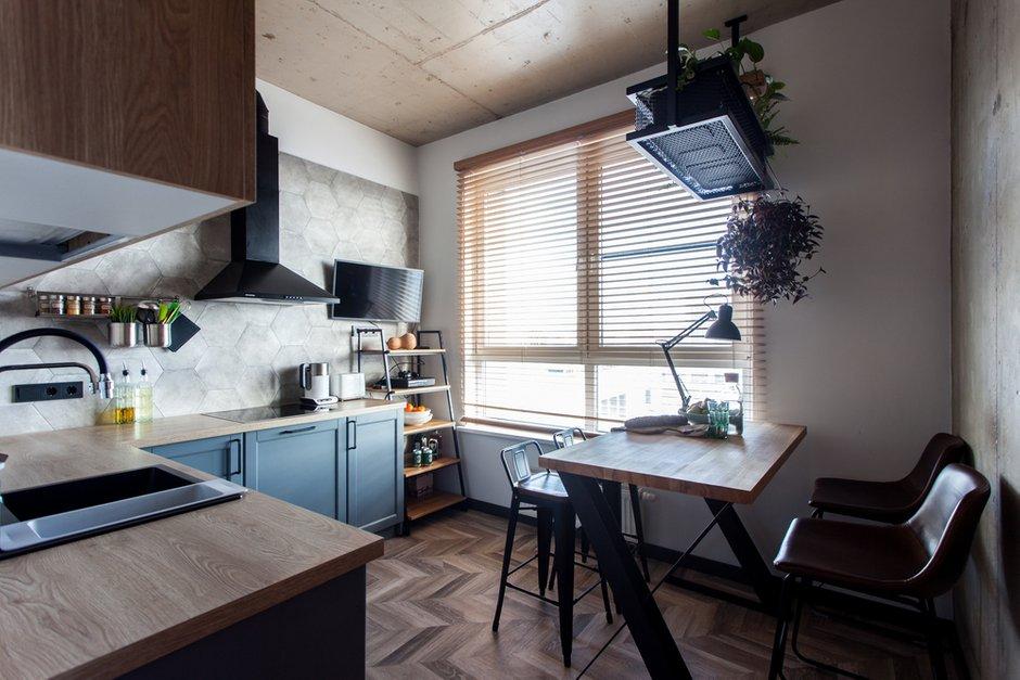 Фотография: Кухня и столовая в стиле Лофт, Современный, Квартира, Проект недели, Москва, 1 комната, до 40 метров, 40-60 метров, MiR Buro – фото на INMYROOM