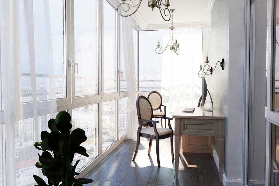 Фотография: Балкон, Терраса в стиле Классический, Квартира, Дома и квартиры, Проект недели – фото на INMYROOM
