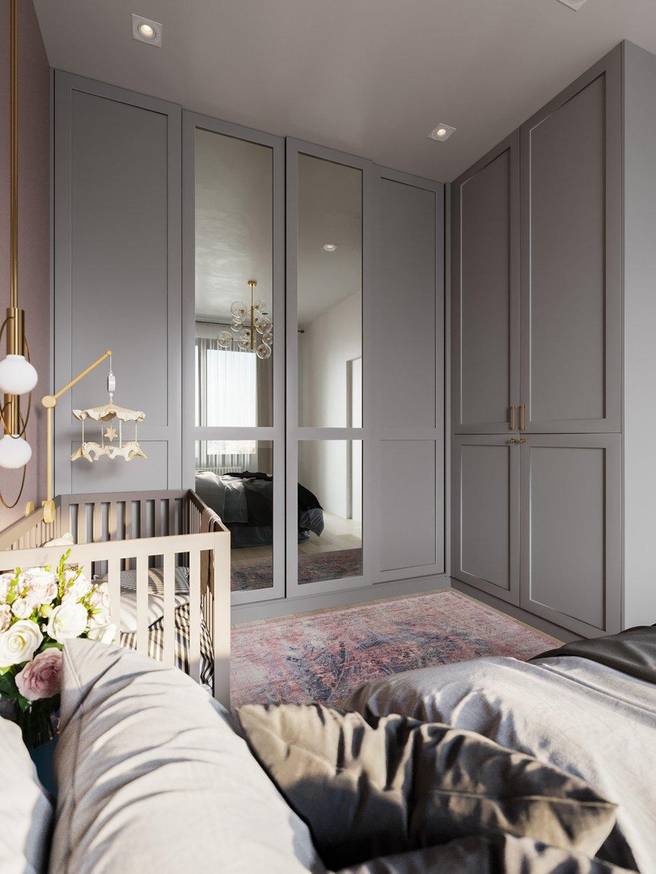 Фотография: Спальня в стиле Современный, Малогабаритная квартира, Квартира, Проект недели, Москва, Монолитный дом, 1 комната, до 40 метров, 40-60 метров, Яна Грошева – фото на INMYROOM