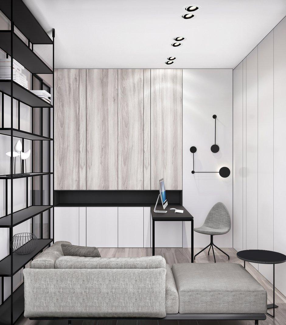 Фотография: Кабинет в стиле Современный, Квартира, Miele, Проект недели, Москва, Quadro room, 4 и больше, Более 90 метров – фото на INMYROOM