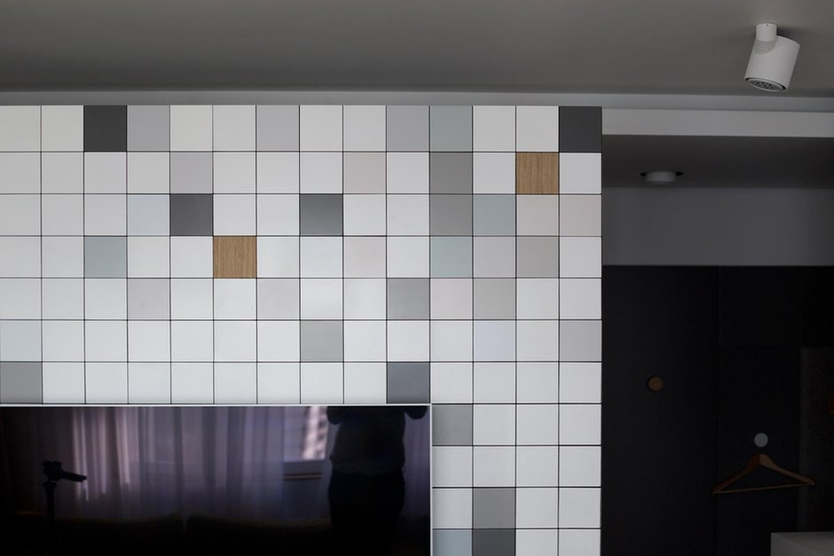 Фотография: Гостиная в стиле Минимализм, Современный, Квартира, Проект недели, Москва, Монолитный дом, 3 комнаты, 60-90 метров, Zeworkroomstudio – фото на INMYROOM