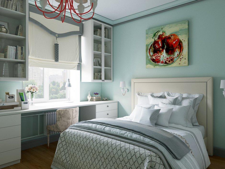 Фотография: Спальня в стиле Скандинавский, Квартира, Проект недели, Москва, Сталинка, Алена Юдина, 3 комнаты, 60-90 метров – фото на INMYROOM