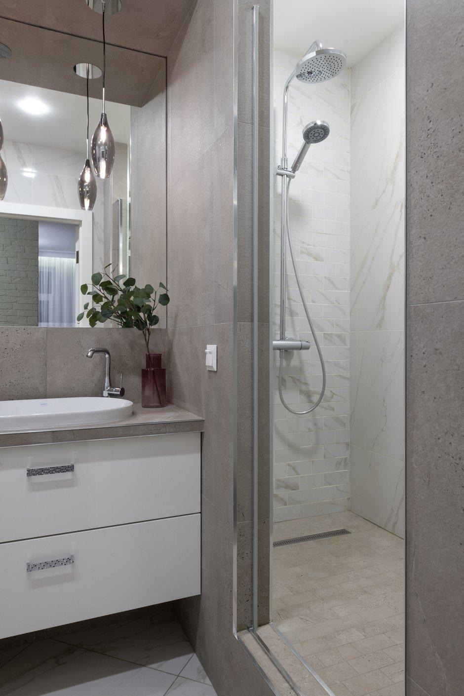 Фотография: Ванная в стиле Современный, Эклектика, Квартира, Советы, 2 комнаты, 60-90 метров, Юлия Горбунова – фото на INMYROOM
