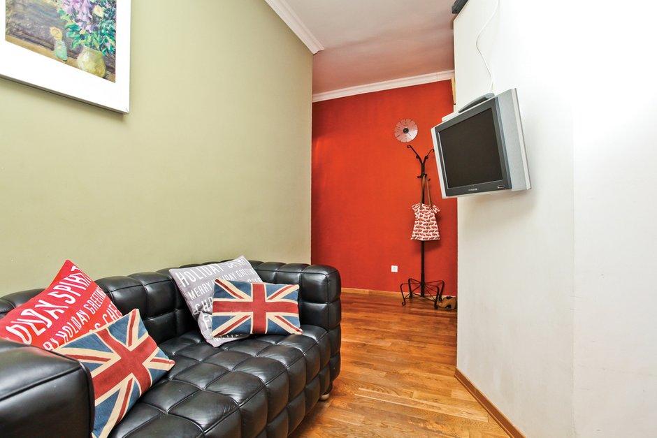 Фотография: Гостиная в стиле Современный, Квартира, Дома и квартиры, Перепланировка – фото на INMYROOM