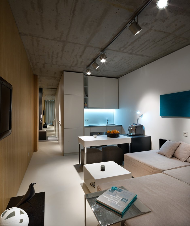Фотография: Гостиная в стиле Лофт, Малогабаритная квартира, Квартира, Украина, Дома и квартиры – фото на INMYROOM