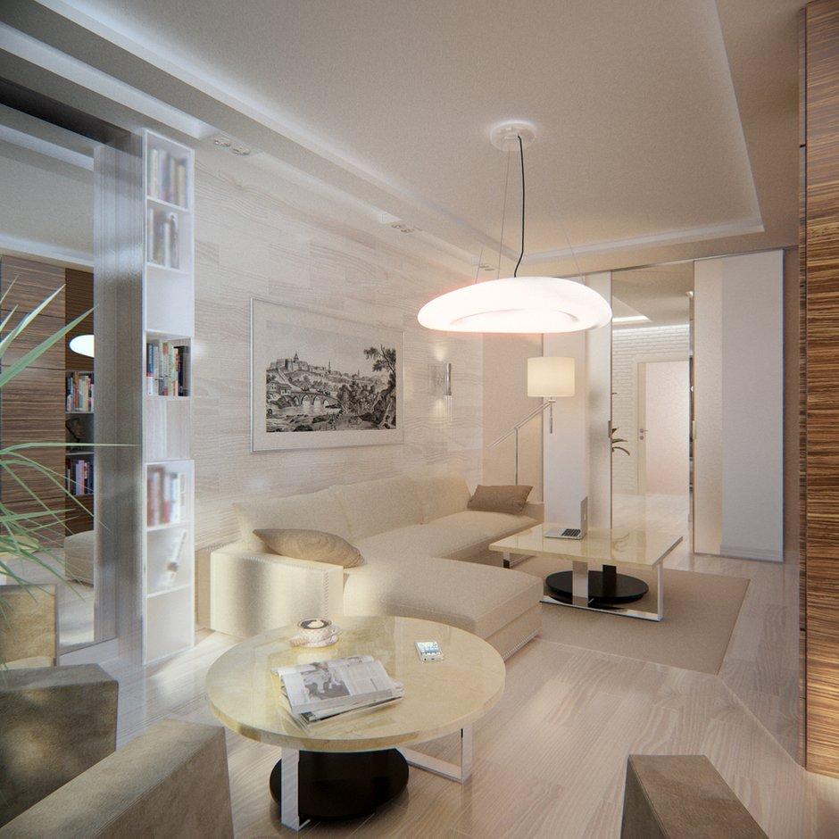 Фотография: Гостиная в стиле Современный, Эко, Квартира, Проект недели – фото на INMYROOM