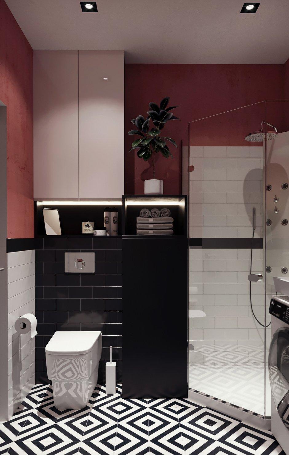Фотография: Ванная в стиле Скандинавский, Малогабаритная квартира, Квартира, Студия, Проект недели, Москва, Монолитный дом, до 40 метров, Anova Interior Design – фото на INMYROOM