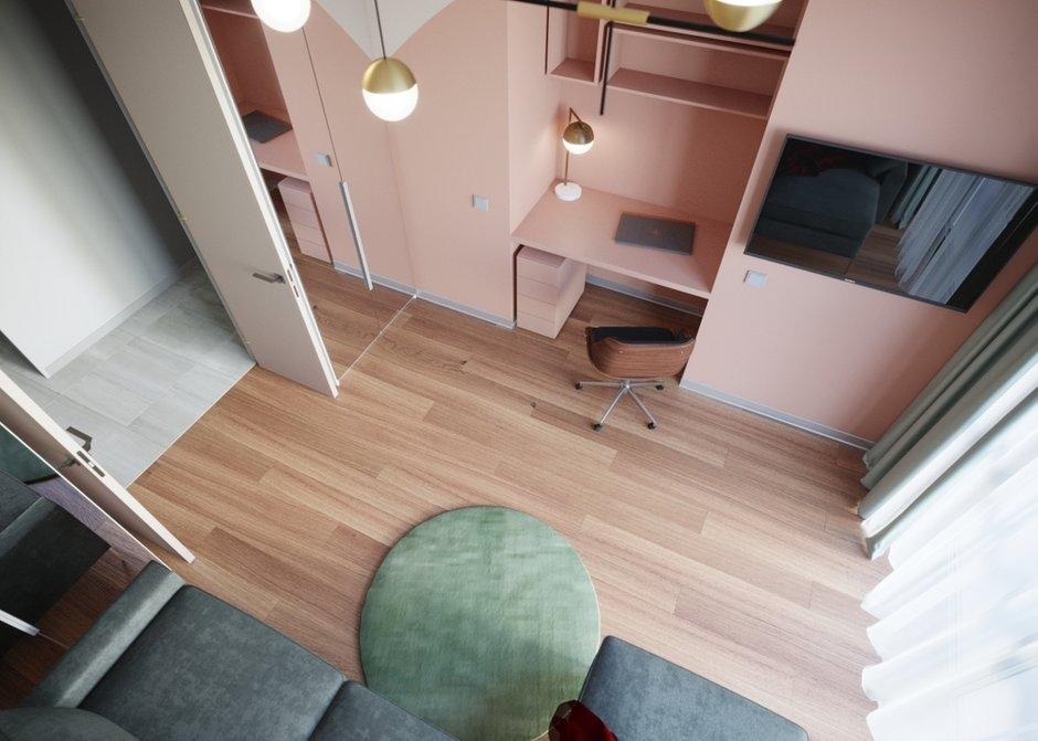 Фотография: Гостиная в стиле Современный, Минимализм, Кухня и столовая, Спальня, Белый, Проект недели, Розовый, 1 комната, до 40 метров, ПРЕМИЯ INMYROOM – фото на INMYROOM