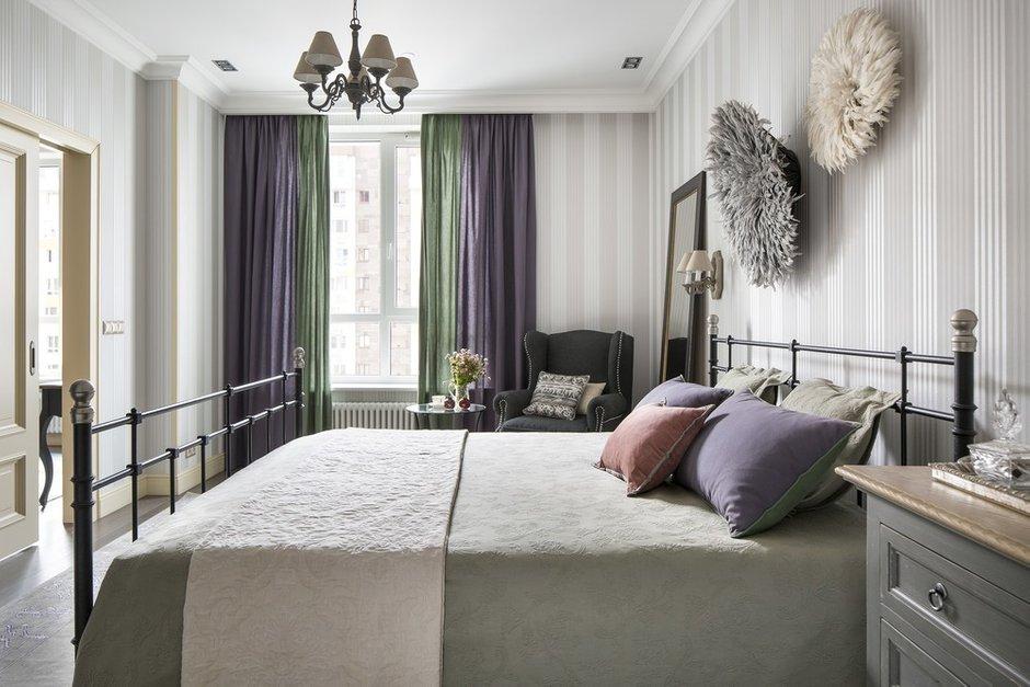 Фотография: Спальня в стиле Прованс и Кантри, Эклектика, Квартира, Проект недели, Москва, Олеся Шляхтина, 2 комнаты, 3 комнаты, 60-90 метров – фото на INMYROOM