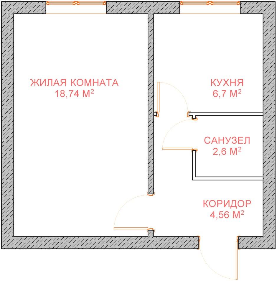 Фотография: Прочее в стиле , Квартира, Планировки, Дома и квартиры, Перепланировка, II-49, Панельный дом, 1 комната, до 40 метров – фото на INMYROOM