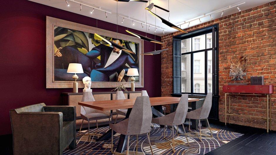 Фотография: Кухня и столовая в стиле Лофт, Квартира, Дома и квартиры, Проект недели, Ар-деко – фото на INMYROOM