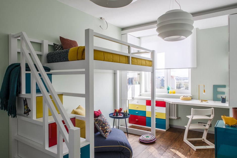 Фотография: Детская в стиле Современный, Квартира, Проект недели, Москва, Монолитный дом, 4 и больше, Более 90 метров, Юлия Кишкович – фото на INMYROOM