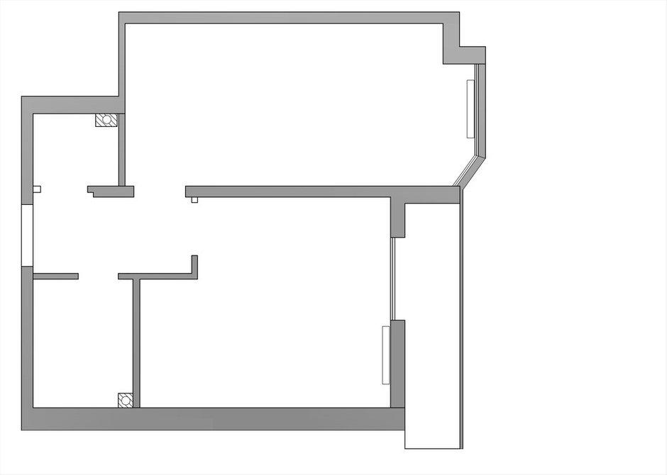 Фотография: Планировки в стиле , Современный, Квартира, Проект недели, 1 комната, 40-60 метров – фото на INMYROOM