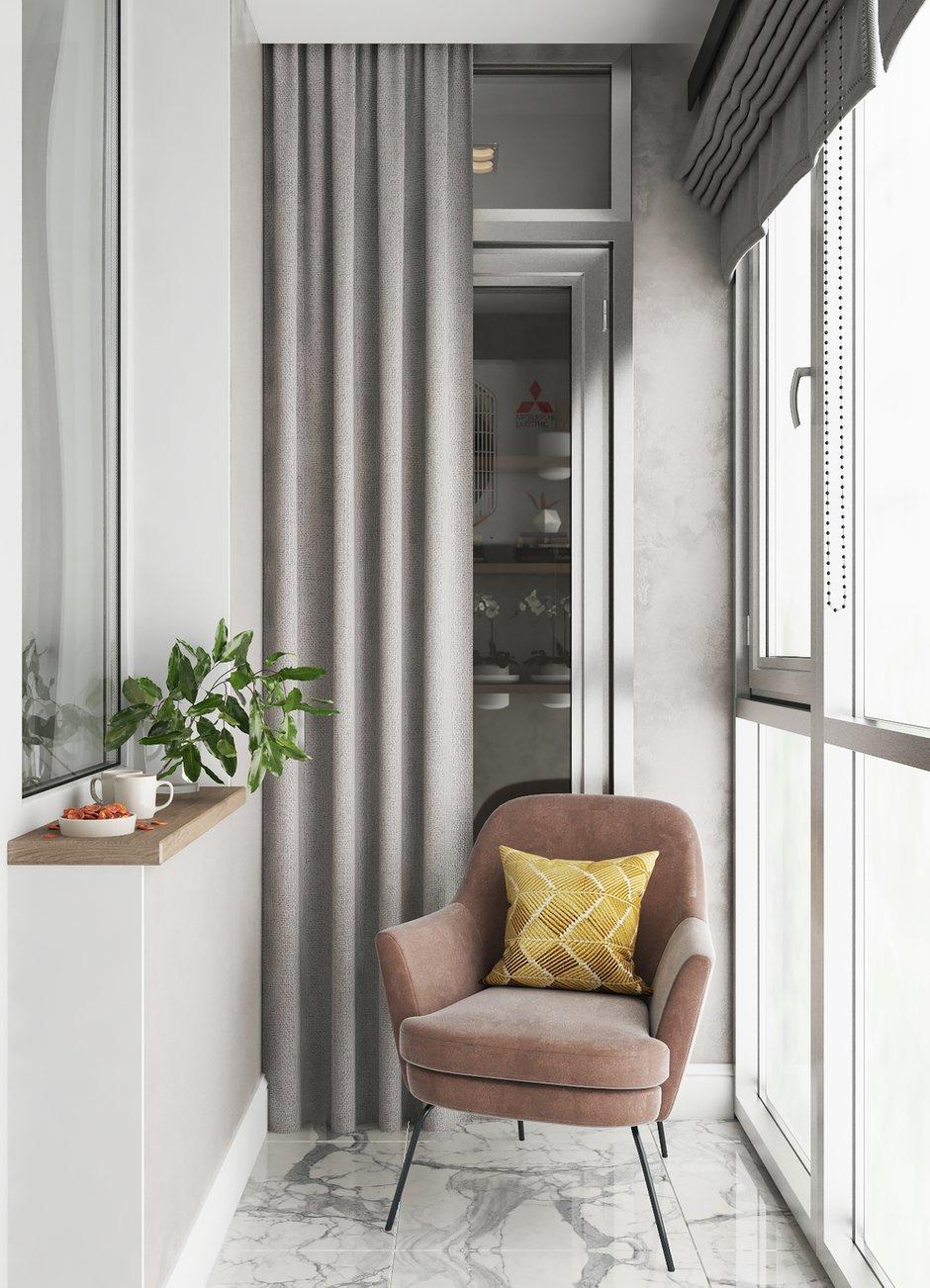 Фотография: Балкон в стиле Современный, Квартира, Проект недели, Санкт-Петербург, 2 комнаты, 40-60 метров, Анастасия Шумова – фото на INMYROOM