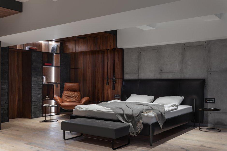 Фотография: Спальня в стиле Современный, Лофт, Квартира, Проект недели, Москва, GM-Interior, 3 комнаты, Более 90 метров – фото на INMYROOM
