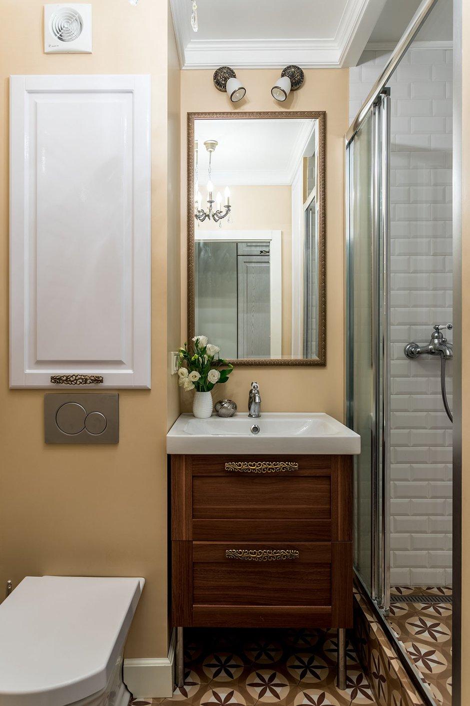 Фотография: Ванная в стиле Прованс и Кантри, Малогабаритная квартира, Квартира, Проект недели, Наталья Сытенкова – фото на INMYROOM