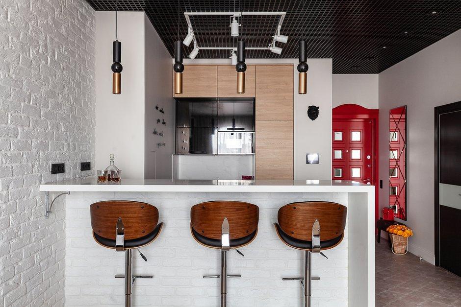 Фотография: Кухня и столовая в стиле Современный, Квартира, Проект недели, Москва, Монолитный дом, Надежда Требухина – фото на INMYROOM