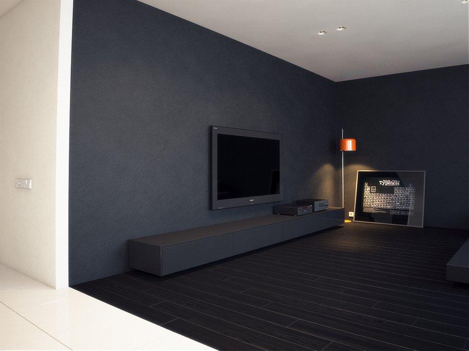 Фотография: Гостиная в стиле Хай-тек, Квартира, Дома и квартиры, Минимализм – фото на INMYROOM