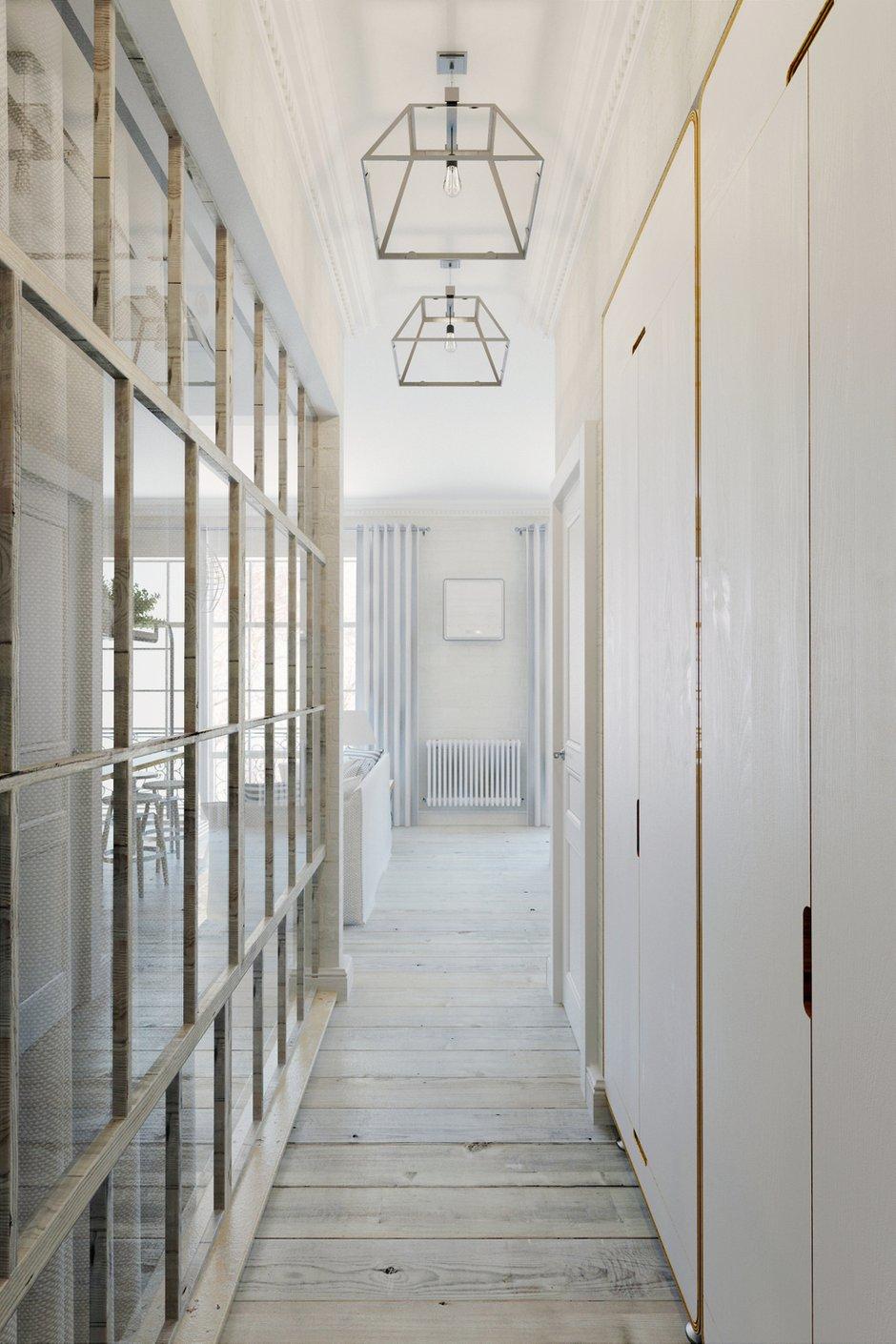 Фотография: Прихожая в стиле Лофт, Скандинавский, Квартира, Цвет в интерьере, Дома и квартиры, Белый – фото на INMYROOM