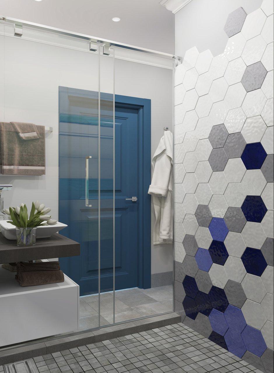 Фотография: Ванная в стиле Современный, Лофт, Квартира, Проект недели, Новая Москва, OM Design, Монолитный дом, 3 комнаты, 60-90 метров – фото на INMYROOM