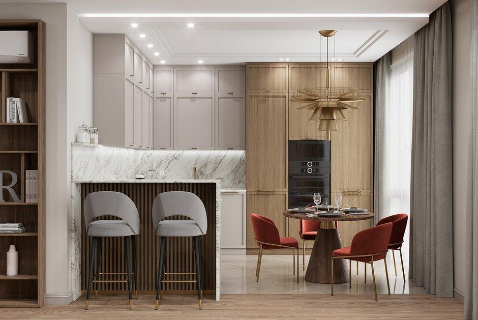 Фотография: Кухня и столовая в стиле Современный, Квартира, Проект недели, Москва, 2 комнаты, 60-90 метров, Тор-Ард – фото на INMYROOM