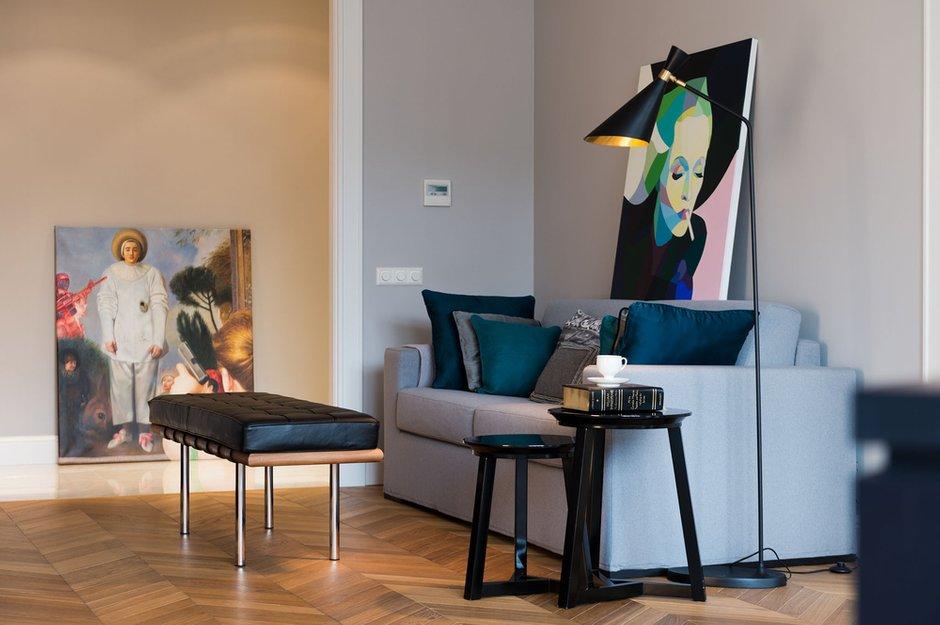Фотография: Гостиная в стиле Современный, Квартира, Декор, Проект недели – фото на INMYROOM