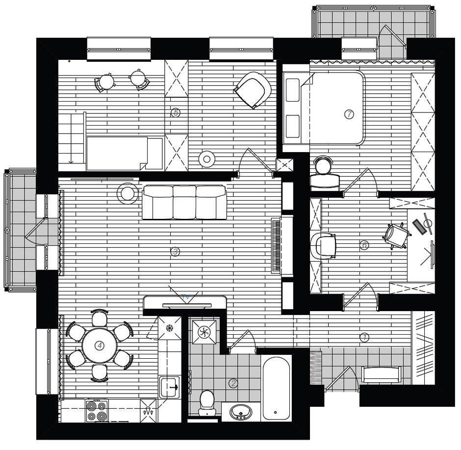 Фотография: Планировки в стиле , Декор интерьера, Квартира, Дома и квартиры, Неоклассика – фото на InMyRoom.ru