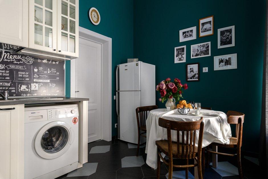 Фотография: Кухня и столовая в стиле Эклектика, Квартира, Проект недели, Санкт-Петербург, 2 комнаты, 60-90 метров, Ирина Халезова – фото на INMYROOM