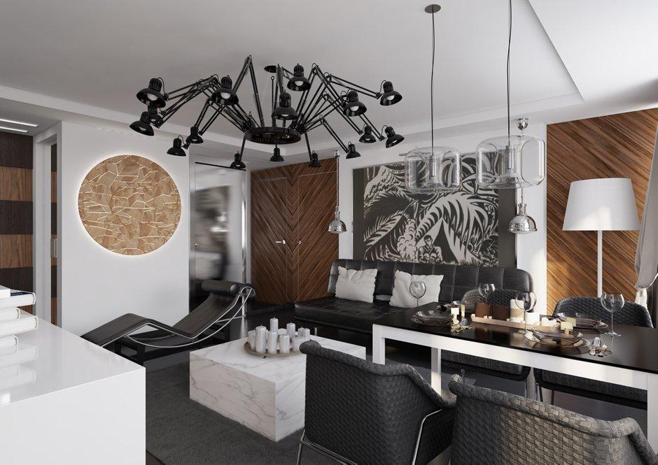 Фотография: Гостиная в стиле Лофт, Современный, Квартира, Дома и квартиры, Проект недели – фото на INMYROOM