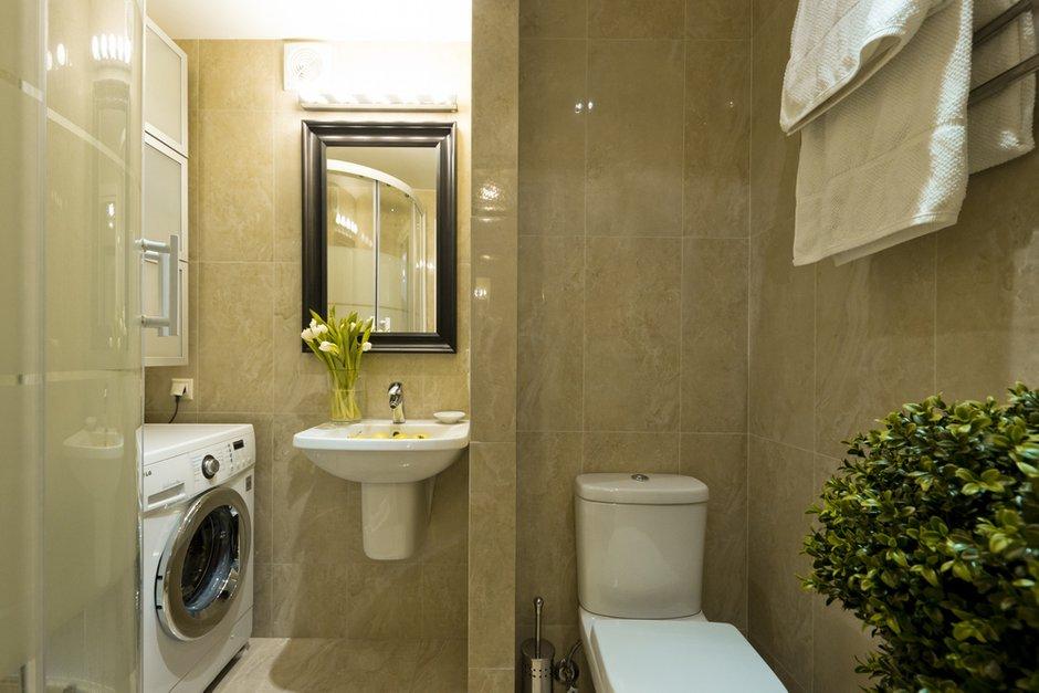 Фотография: Ванная в стиле Восточный, Современный, Малогабаритная квартира, Квартира, Дома и квартиры – фото на INMYROOM