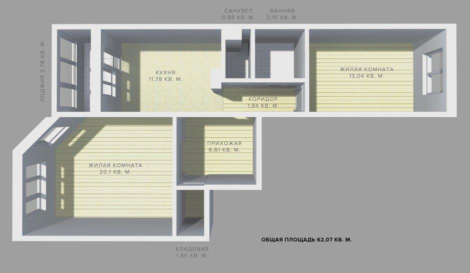 Фотография: Гостиная в стиле Классический, Квартира, Планировки, Перепланировка, ИП-46с, дом серии ИП-46с, двухкомнатная квартира в ИП-46с, перепланировка двушки в ИП-46с, перепланировка двухкомнатной квартиры в ИП-46с, варианты перепланировки двухкомнатной квартиры, как обустроить двушку для пары, как обустроить двухкомнатную квартиру для пары с детьми, идеи перепланировки, перепланировка в ИП-46с – фото на INMYROOM