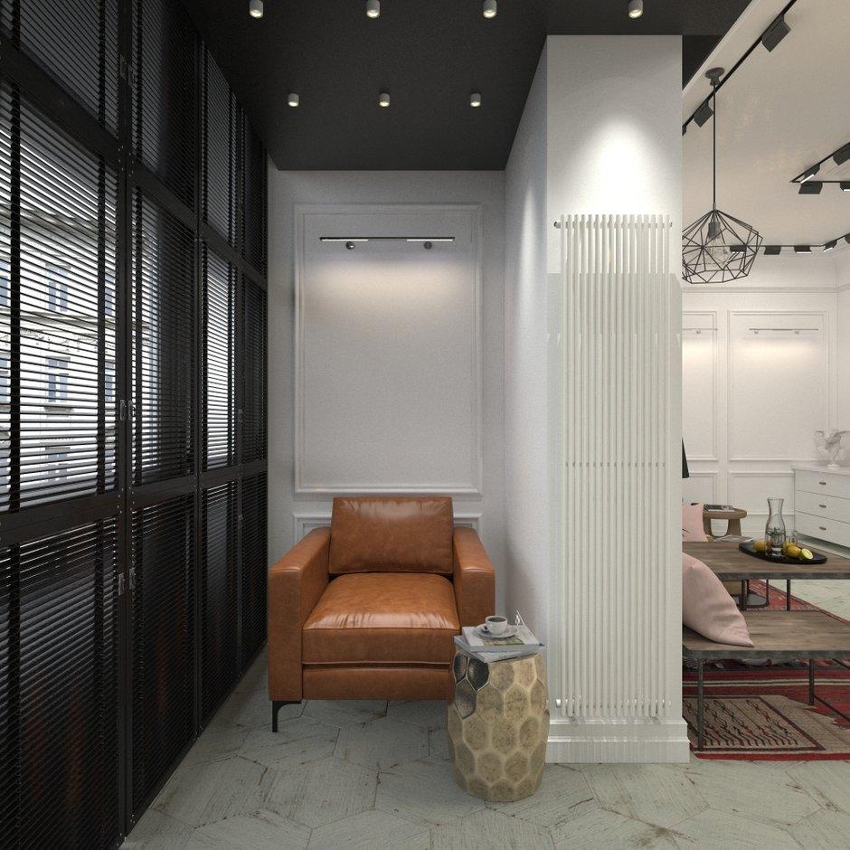 Фотография: Балкон в стиле Скандинавский, Квартира, Проект недели, Блочный дом, 2 комнаты, 40-60 метров, Юлия Штыкина, Ла Корунья – фото на INMYROOM